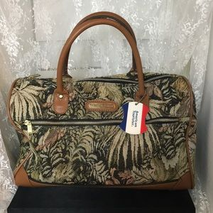 Vintage American Tourister Tapestry Overnight Bag